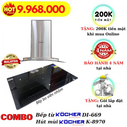Combo bếp từ hút mùi DI-669/K-8970