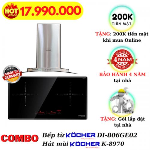 Combo bếp từ hút mùi Kocher DI-806Ge02/K8970