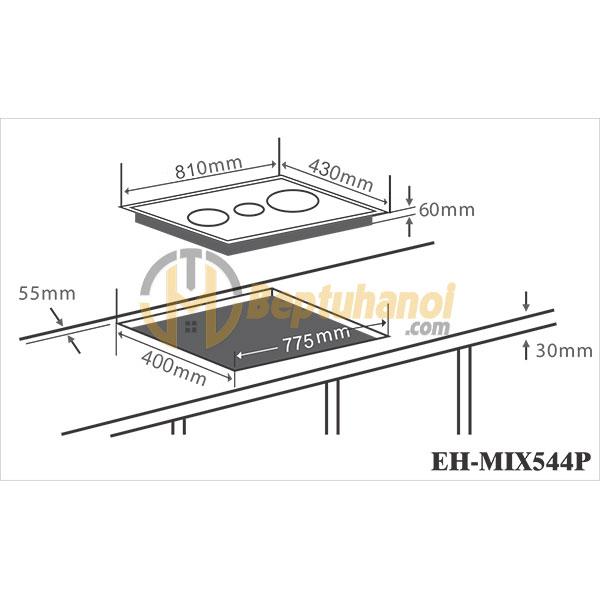 Bếp Điện Từ Ba CHEFS EH-MIX544P